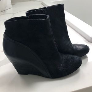 Vince Camuto Black Wedge Bootie